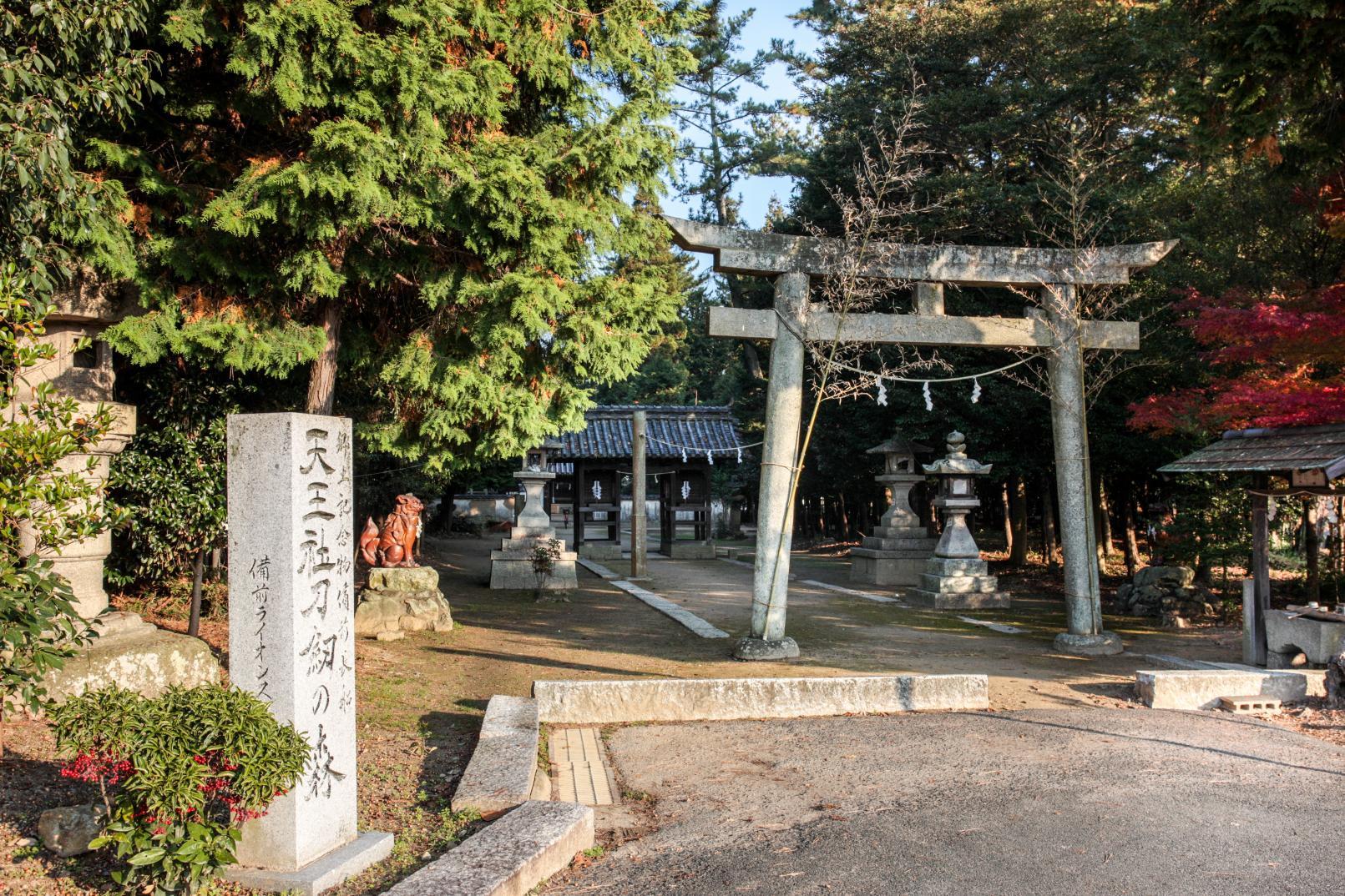 天王社刀剣の森・靱負神社-1